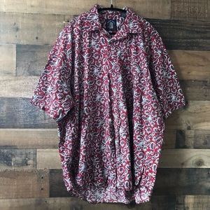 Other - Salty Dog Short Sleeve Paisley Print Button Up